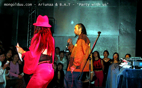 Ariunaa & B.A.T singing thier new song 'Party with us'